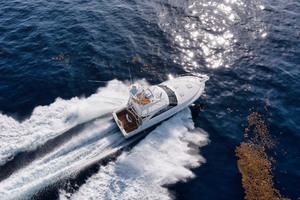 Cool Daddio is a Cabo 44 HTX Yacht For Sale in Hyannis-Offshore Aerial Overhead View-45